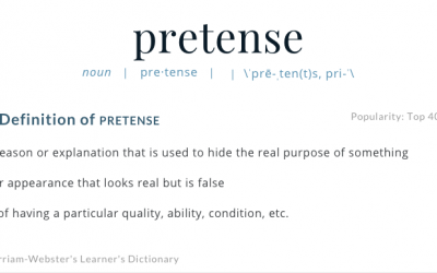 Pretense: The Not-So-Pretty Face Behind the Pretty Face of Transformation